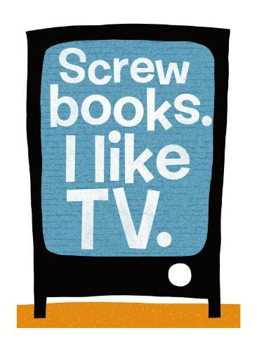 Screw Books Väggdekal