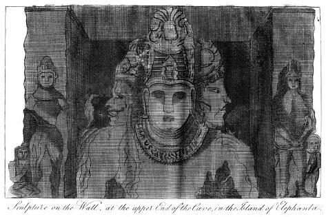 Sculpture on the Wall at the Upper End of the Cave, Island of Elephanta, India, 1799 Giclee Print