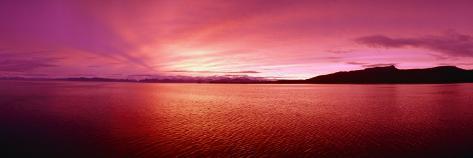 Sea at Sunset, Frederick Sound, Admiralty Island, Kupreanof Island, Alaska, USA Photographic Print