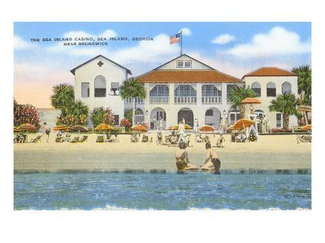 Sea Island Casino, Georgia Art Print