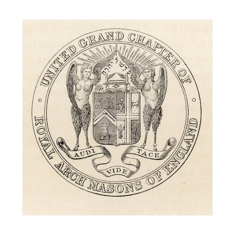 Seal of the United Grand Chapter of Royal Arch Masons of England, 1817,  from 'The History of…