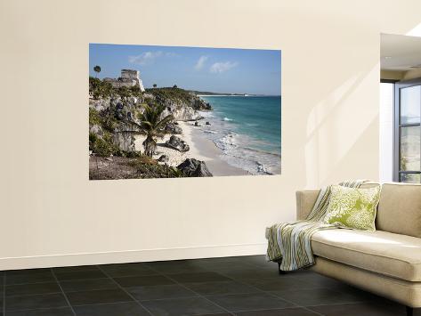 Tulum Ruins Along Caribbean Coastline Seinämaalaus