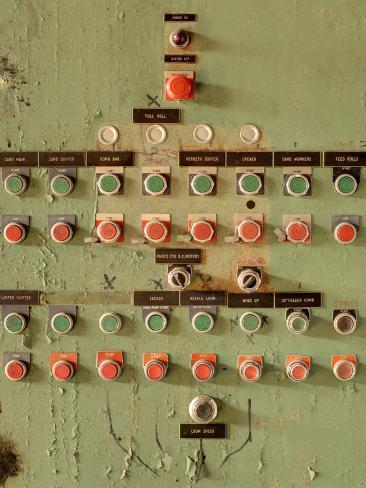 Buttons at an Old Abaonded Textile Mill Photographic Print