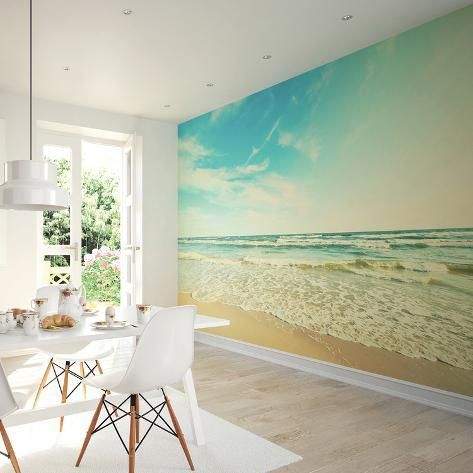 Good Seashore Wall Mural Mural De Papel De Parede Part 31