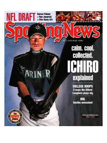 Seattle Mariners OF Ichiro Suzuki - March 10, 2003 Stretched Canvas Print
