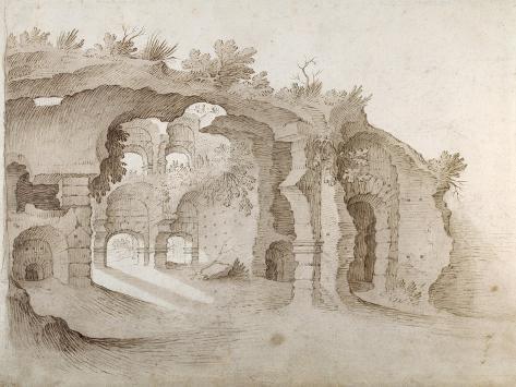 Entry to the Colosseum Impressão giclée