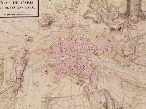 Map of Paris and Its Surroundings, from