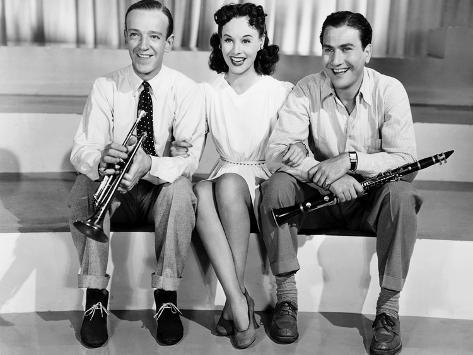 Second Chorus, Fred Astaire, Paulette Goddard, Artie Shaw, 1940 Photo