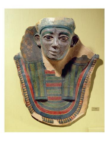 Mummy Mask, from Mirgissa Stretched Canvas Print