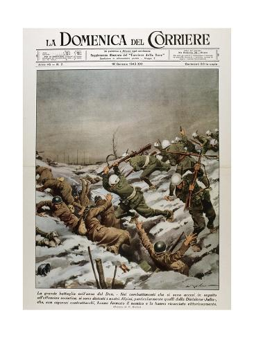 Second World War. Battle of Stalingrad. River Don Front Stretched Canvas Print