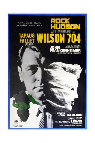 Seconds, (aka Wilson 704), Finnish Poster, Rock Hudson, 1966 Gicléetryck