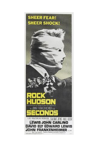 Seconds, US poster, Rock Hudson, 1966 Art Print