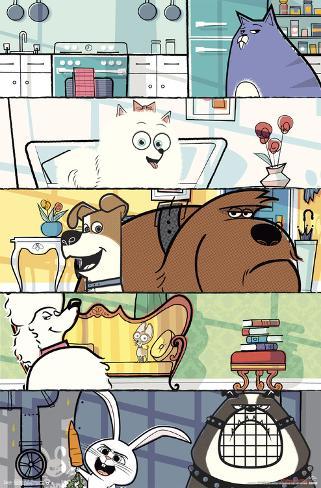 Secret Life Of Pets- Character Panels Poster
