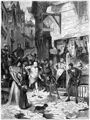 Seigni Joan, Rue De Petit Chastelet, France, 14th Century (1882-188) Giclee Print