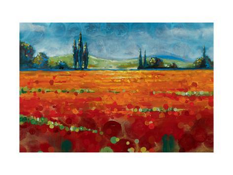 Spring Meadows II Premium Giclee Print