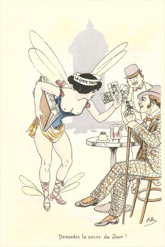 Semi-Nude Postal Carrier Art Print
