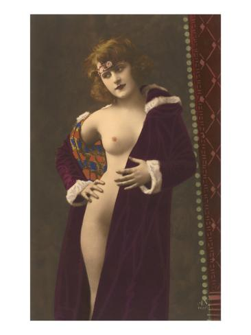 Semi-nude Woman with Robe Art Print