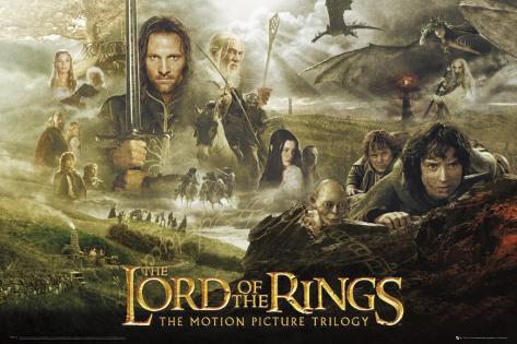 Señor de los anillos, trilogía Póster