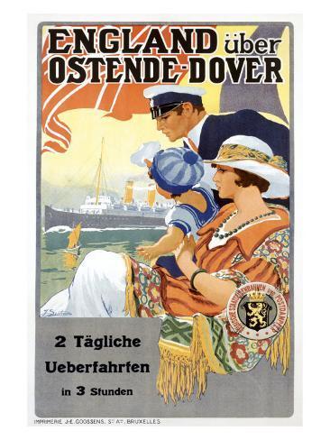England Uber Ostende Dover Giclee Print