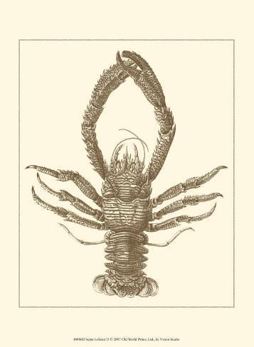 Sepia Lobster II Art Print
