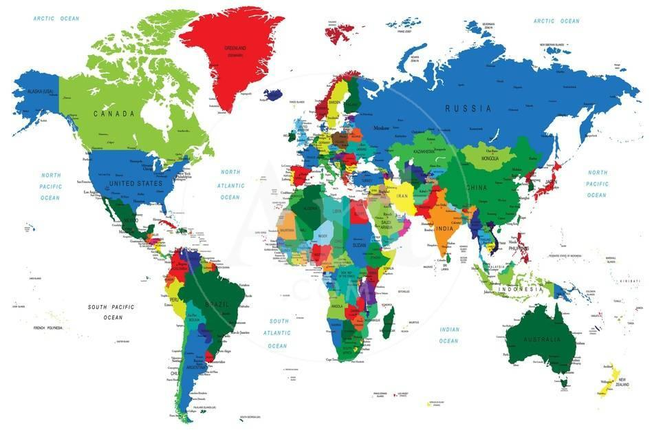 World map countries print by serban bogdan at allposters true gumiabroncs Images