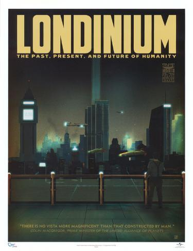 Serenity Movie Blue Sun Londinium Travel Poster Print Mini Poster