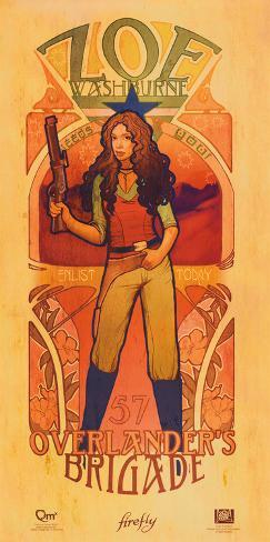 Serenity Movie Firefly Les Femmes Zoe Washburne Poster Print ミニポスター