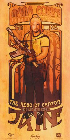 Serenity Movie Firefly Les Hommes Jayne Cobb Poster Poster