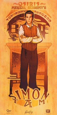 Serenity Movie Firefly Les Hommes Simon Tam Poster Poster
