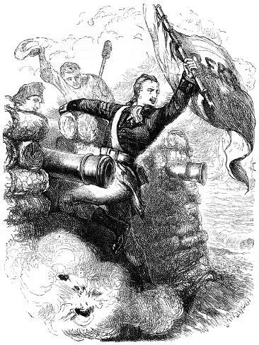Sergeant Jasper Recovering the Flag, 1776 Giclee Print