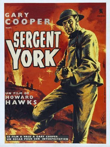 Sergeant York, 1941, Directed by Howard Hawks Impressão giclée