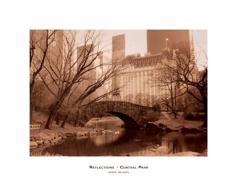 Reflections, Central Park Art Print