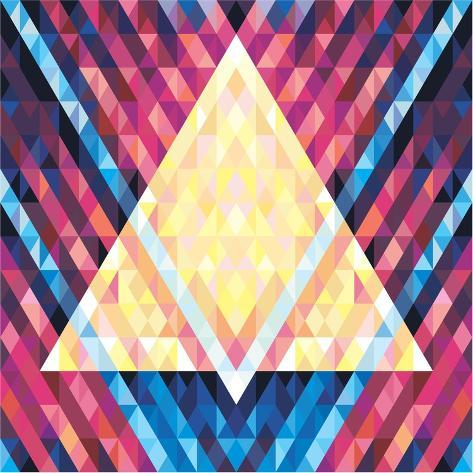 Geometric Background - Vector Seamless Pattern - Music Flyer & Poster 02 Art Print
