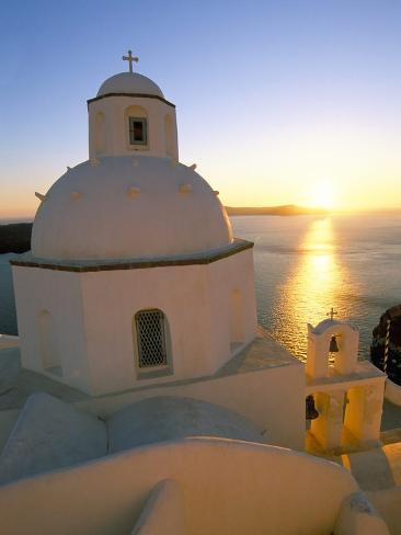Fira, Island of Santorini (Thira), Cyclades Islands, Aegean, Greek Islands, Greece, Europe Photographic Print