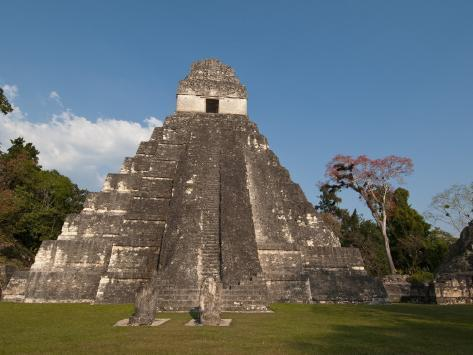 Gran Plaza and Temple I, Mayan Archaeological Site, Tikal, Guatemala Photographic Print