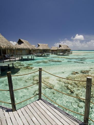 Pearl Beach Resort, Tikehau, Tuamotu Archipelago, French Polynesia Islands Photographic Print