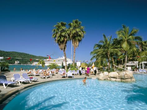 Swimming Pool Jamaica Grande Hotel Ocho Rios West Ins Central America