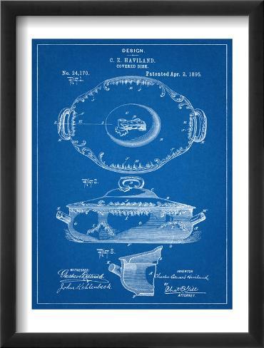 Serving Dish Kitchen Art Patent Framed Art Print