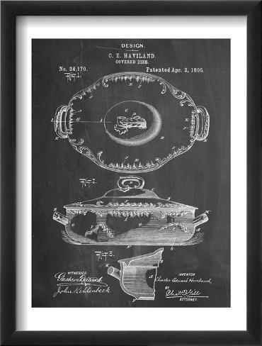 Serving Dish Patent Framed Art Print