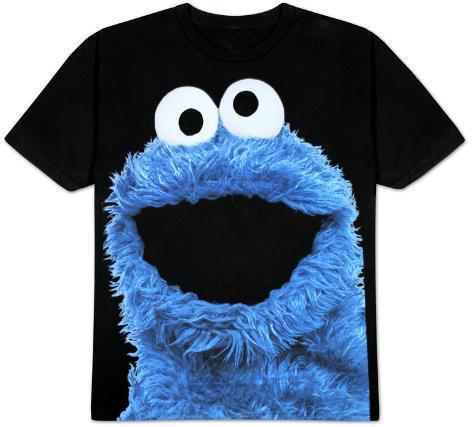 Sesame Street - Big Photo Cookie T-Shirt