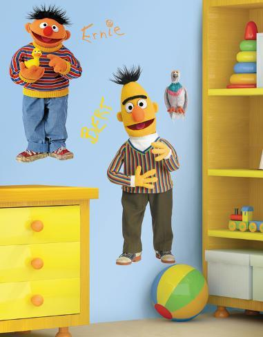 Sesame Street - Burt & Ernie Peel & Stick Giant Wall Decal Wall Decal