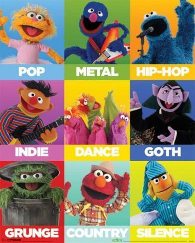 Sesame Street - Music Mini Poster