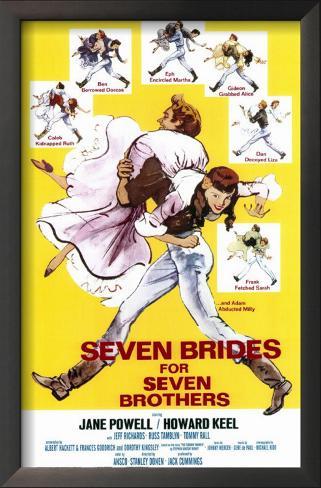 Sete Noivas para Sete Irmãos Impressão artística emoldurada