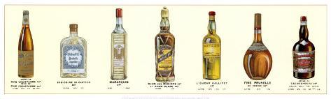Seven Bottles I Art Print