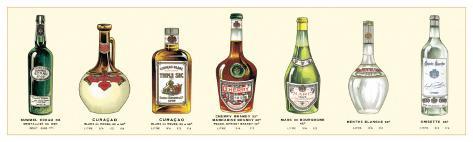 Seven Bottles II Art Print