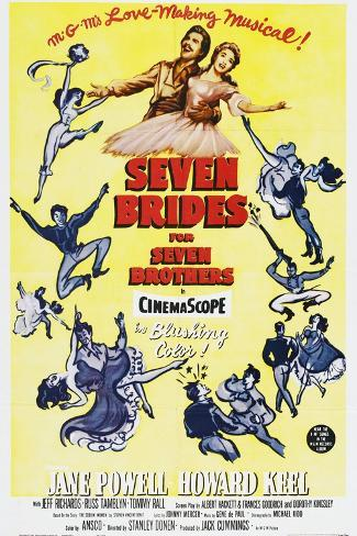 Seven Brides for Seven Brothers, 1954 Gicléetryck