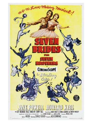 Seven Brides for Seven Brothers, 1954 Art Print