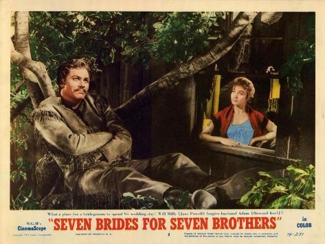 Seven Brides for Seven Brothers, 1954 Lámina