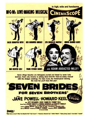 Seven Brides for Seven Brothers, 1954 Premium Giclee Print