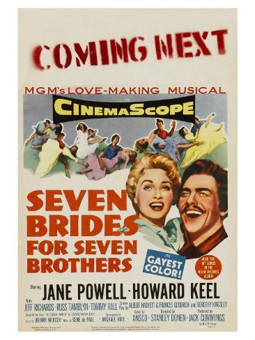 Seven Brides for Seven Brothers, 1954 Art Print